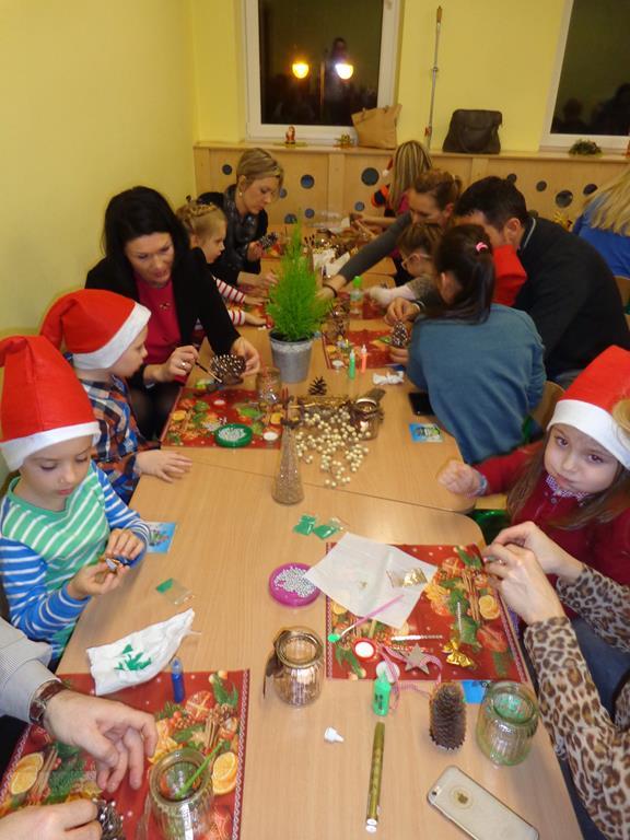 Warsztaty świąteczne w grupie V