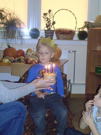 Urodziny Krystiana z grupy IV