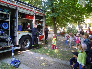 Bezpieczny tydzień – spotkanie z przedstawicielami Straży Pożarnej
