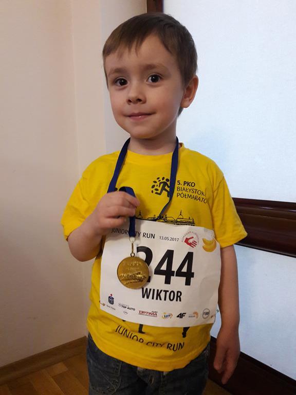 Udział Wiktora z grupy VI w półmaratonie.