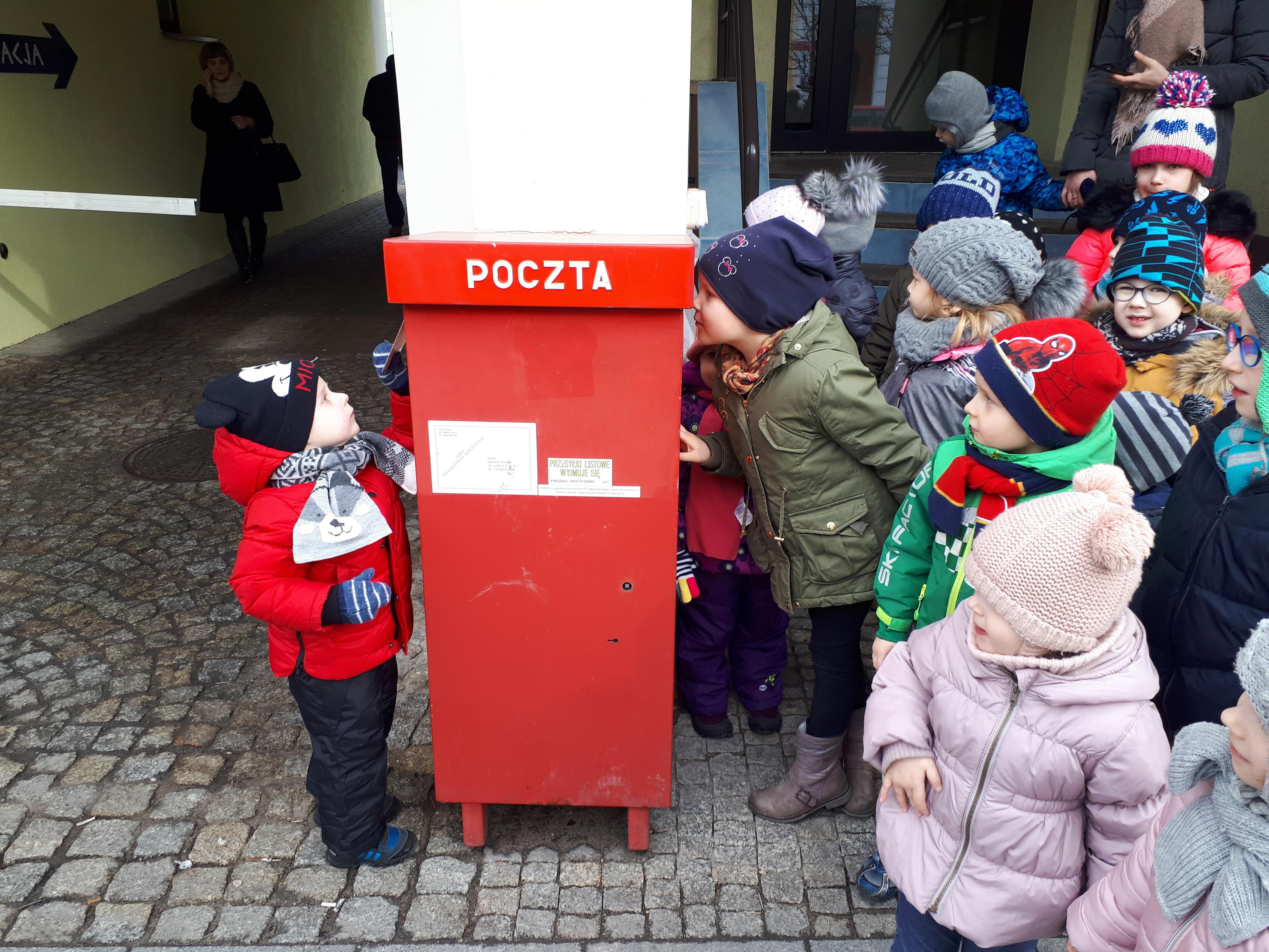 Wycieczka na pocztę – grupa II