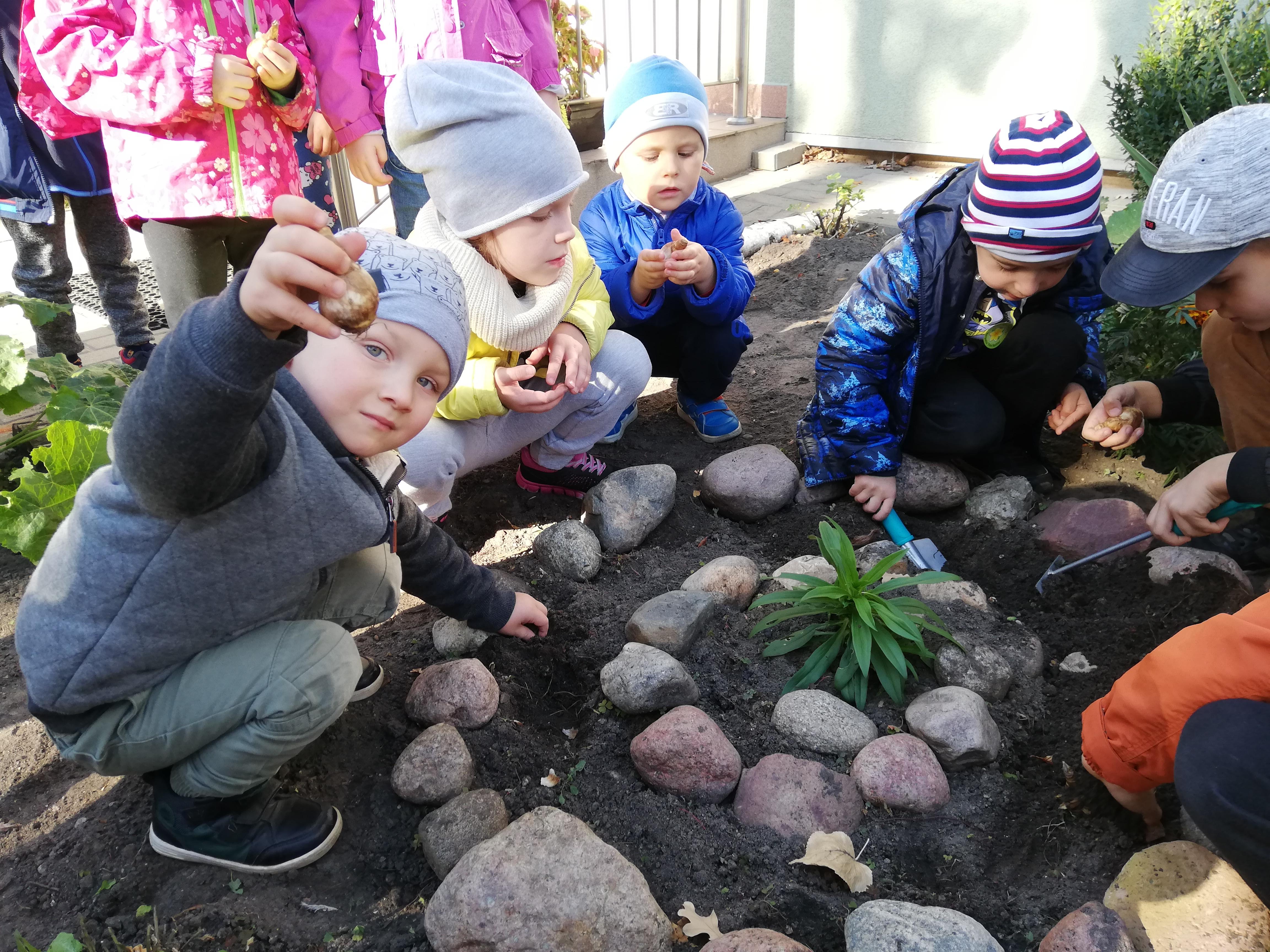 Prace porządkowe w ogródku – grupa I
