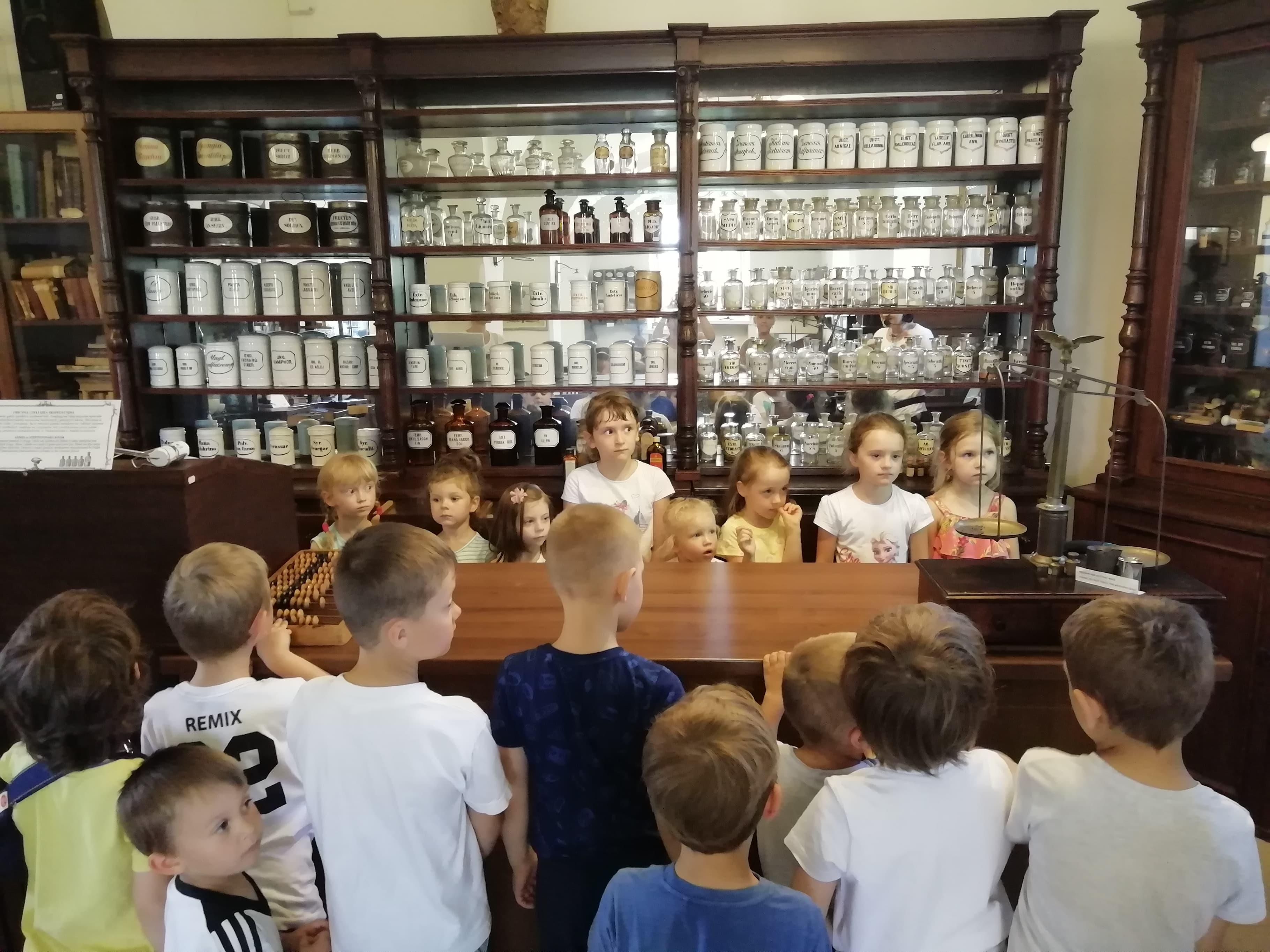Dzieci z grupy V zwiedziły Muzeum Historii Medycyny i Farmacji UMB.