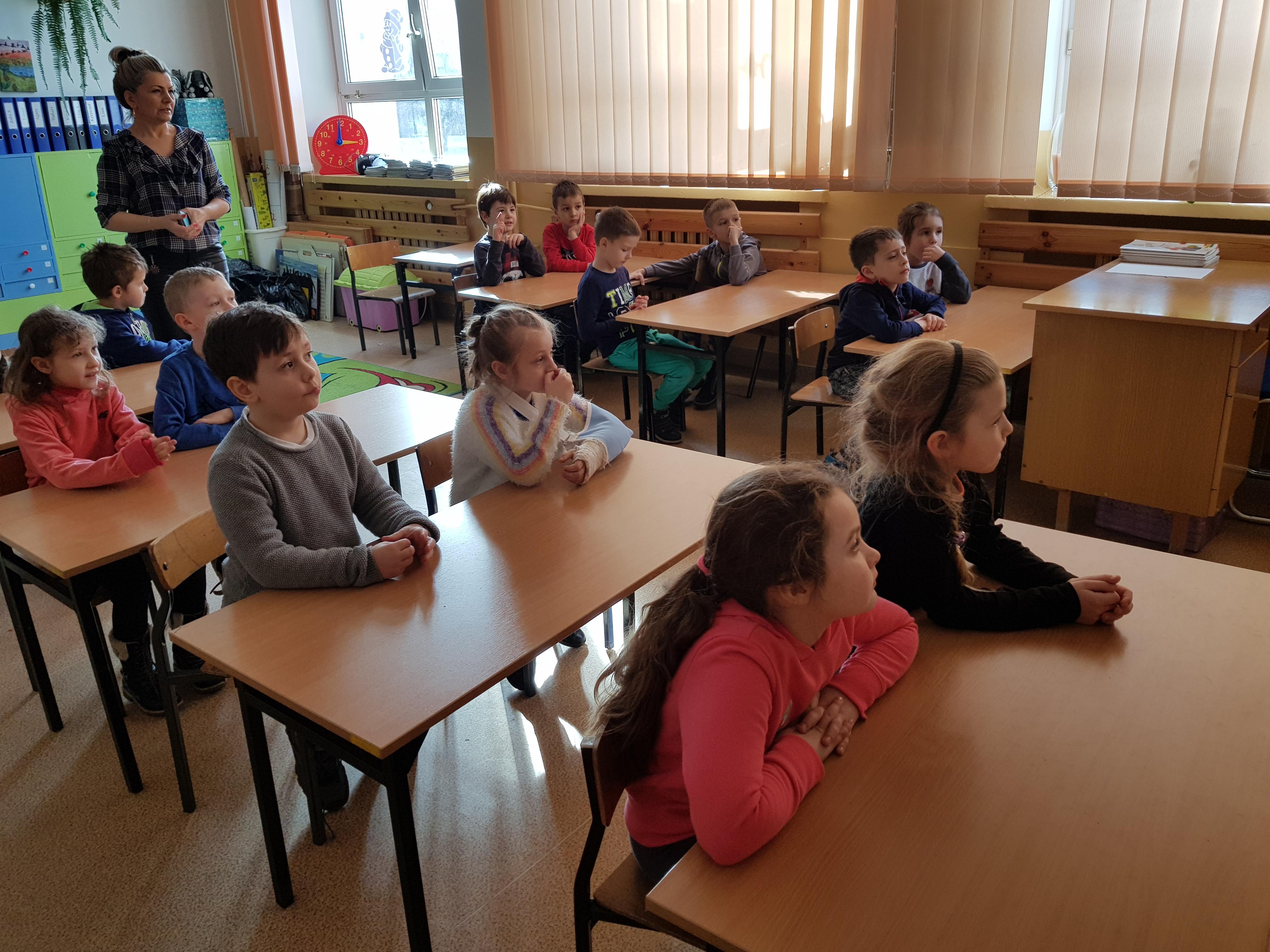 Przedszkolaki na Dniach Otwartych w Szkole Podstawowej nr 2