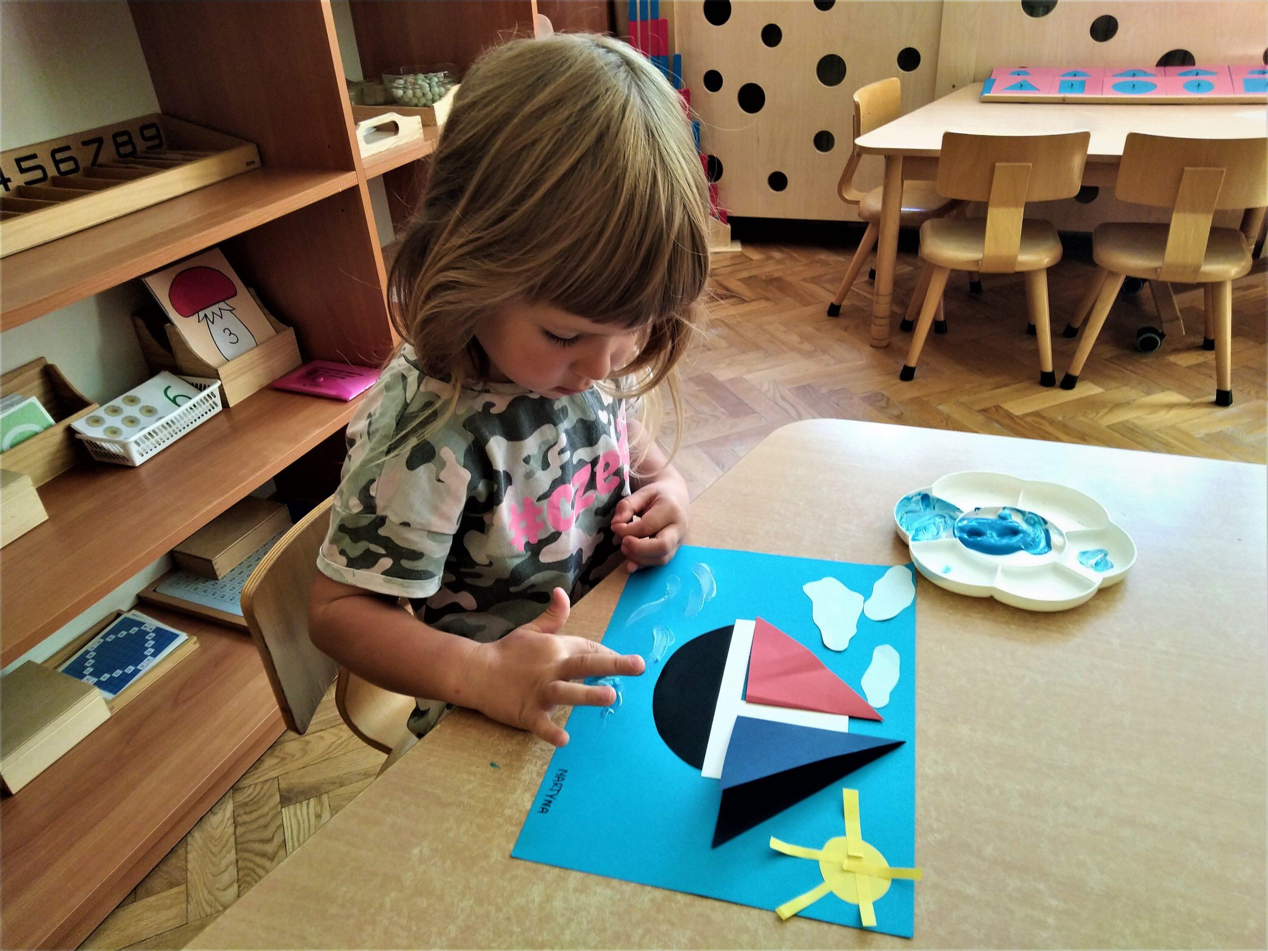 Praca dzieci w grupie II