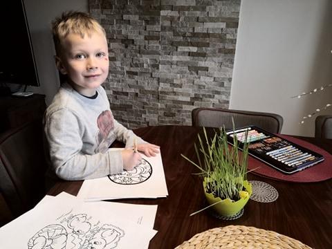Fotogaleria z pracy zdalnej dzieci w ich domach – grupa VII